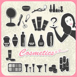Grupo de cosméticos Fotografia de Stock