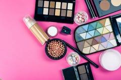 Grupo de cosméticos coloridos Imagens de Stock Royalty Free
