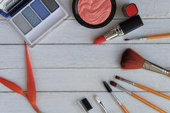 Grupo de cosméticos coloridos Fotografia de Stock Royalty Free