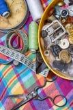 Grupo de costureira para o bordado Fotos de Stock