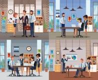 Grupo de cowrkers em escritórios ilustração do vetor