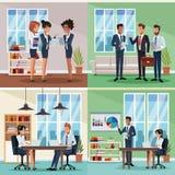Grupo de cowrkers em escritórios ilustração royalty free