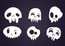 Grupo de crânios dos desenhos animados do vetor Fotografia de Stock