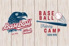 Grupo de crachá do clube do basebol ou do softball Ilustração do vetor Conceito para a camisa ou o logotipo, ilustração do vetor