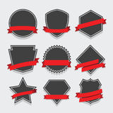 Grupo de crachá e de etiquetas Fotografia de Stock Royalty Free