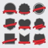 Grupo de crachá e de etiquetas Imagem de Stock
