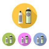 Grupo de creme cosmético do ícone Fotos de Stock