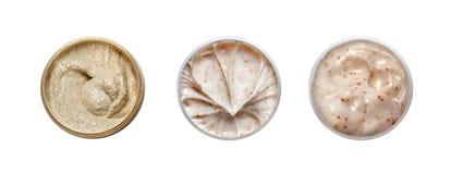 Grupo de creme diferente de 3 cosméticos Foto de Stock Royalty Free