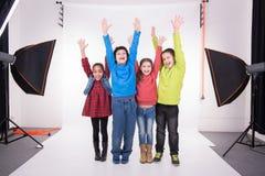 Grupo de crianças foto de stock