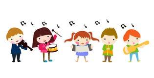 Grupo de crianças da música Fotos de Stock Royalty Free