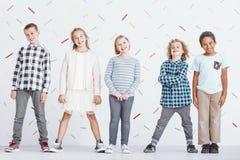 Grupo de crianças do preteen fotos de stock royalty free