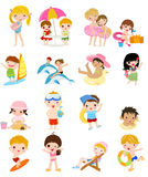 Grupo de crianças do verão Imagem de Stock