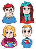 Grupo de crianças doentes Foto de Stock