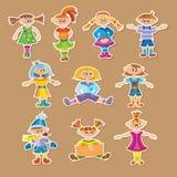 Grupo de crianças dos desenhos animados Ilustração do Vetor