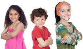 Grupo de crianças felizes Fotografia de Stock