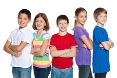 Grupo de crianças felizes Imagens de Stock