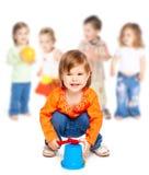 Grupo de crianças pequenas imagens de stock