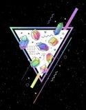 Grupo de cristais não-lineares ilustração stock