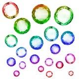 Grupo de cristales aislados Foto de archivo libre de regalías