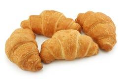 Grupo de Croissants aislados en blanco fotos de archivo libres de regalías