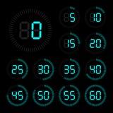 Grupo de cronômetro dos ícones Foto de Stock Royalty Free