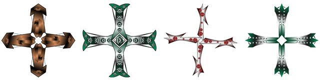 Grupo de cruzes isoladas Imagem de Stock