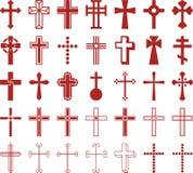 Grupo de cruzes ized Foto de Stock Royalty Free