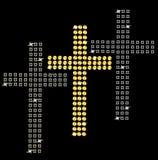 Grupo de cruzes no fundo preto Foto de Stock Royalty Free