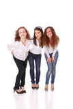 Grupo de cuatro atractivos, mujeres felices. fotos de archivo libres de regalías