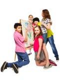 Pintura diversa de los niños Foto de archivo libre de regalías