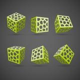 Grupo de cubos abstratos do vetor Fotos de Stock Royalty Free