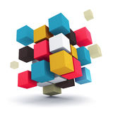 Grupo de cubos coloridos Foto de Stock Royalty Free