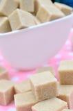 Grupo de cubos do marrom do açúcar Imagens de Stock