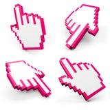 Grupo de cursores da mão Imagem de Stock Royalty Free