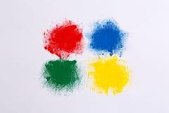 Grupo de cursos coloridos da escova da aquarela Fotografia de Stock