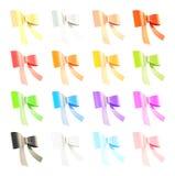 Grupo de curvas da fita do decorational Imagens de Stock