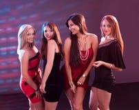 Grupo de dança das mulheres foto de stock