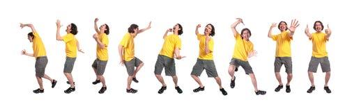 Grupo de dança dos homens novos Foto de Stock Royalty Free