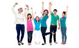 Grupo de dança dos melómanos Fotografia de Stock Royalty Free