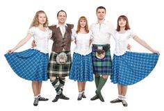 Grupo de dançarinos da dança do Scottish Imagem de Stock