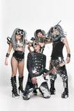 Grupo de dançarinos modernos que dançam no estúdio Fotografia de Stock