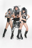 Grupo de dançarinos modernos que dançam no estúdio Fotografia de Stock Royalty Free