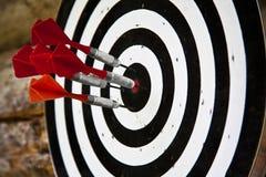 Grupo de dardos vermelhos Imagem de Stock Royalty Free