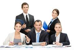 Grupo de debate da equipe do negócio imagens de stock royalty free