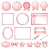 Decorações cor-de-rosa. Fotos de Stock Royalty Free