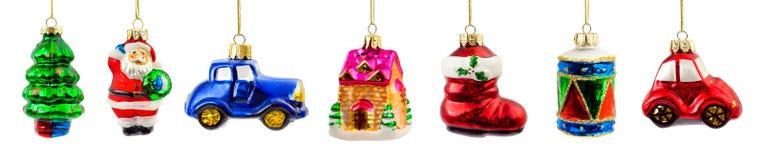 Grupo de decorações do Natal imagens de stock royalty free