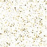 Grupo de decoración de la estrella del oro aislada en el objec blanco del fondo Foto de archivo