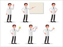 Grupo de dentista dos caráteres em várias atividades Aperfeiçoe para inf ilustração royalty free