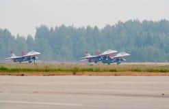Grupo de descolagem de MiG-29 Fotos de Stock