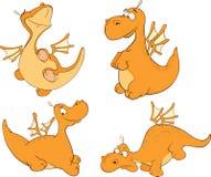 Grupo de desenhos animados dos dragões Imagens de Stock